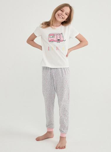 Penti Kız Çocuk Çok Renkli Cutest Trıp 2'li Pijama Takım PNJNIS3321IY Renkli